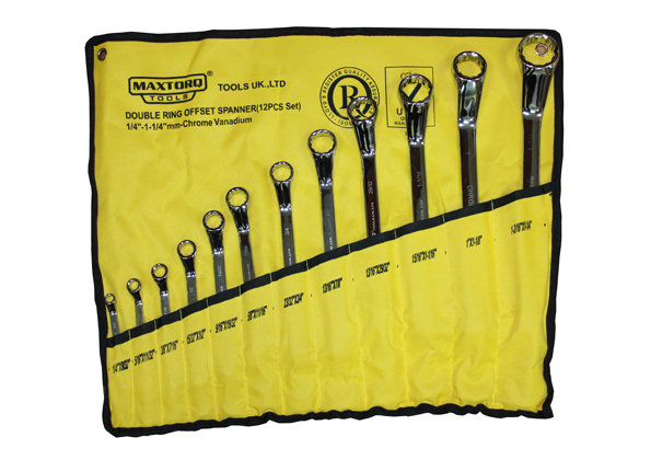 Offset Ring Spanner Set - Inches