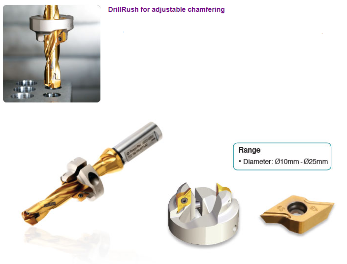 DRILL RUSH for ADJUSTABLE CHAMFERING